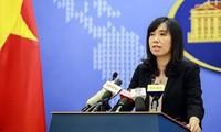 Dengan gigih memprotes dan menuntut kepada Taiwan supaya jangan melakukan latihan menembakkan meriam dengan peluru sungguhan di Pulau Ba Binh, di Kepulauan Truong Sa, Vietnam
