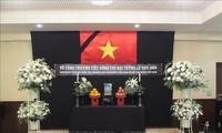 Kedutaan Besar Vietnam di Jepang mengadakan upacara belasungkawa Mantan Presiden Le Duc Anh