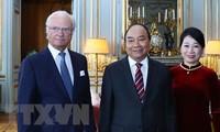 PM Pemerintah Vietnam, Nguyen Xuan Phuc melakukan pertemuan dengan Raja Swedia, Carl XVI Gustav