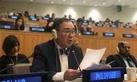 Mendorong perdamaian, kerjasama, keamanan, kestabilan dan menggunakan dengan berkelanjutan sumber daya laut dan samudra