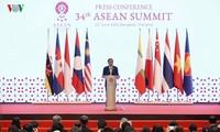 PM Thailand memimpin jumpa pers internasional tentang hasil KTT ASEAN ke-34