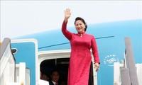 Ketua MN Nguyen Thi Kim Ngan tiba di Beijing, melanjutkan kunjungan resmi di Tiongkok