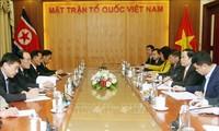 Ketua Pengurus Besar Front Tanah Air Vietnam, Tran Thanh Man  menerima delegasi Organisasi politik untuk kaum pekerja dari Partai Pekerja Korea