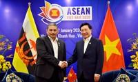 Deputi PM, Menlu Pham Binh Minh menerima Menlu Kedua Brunei Darussalam