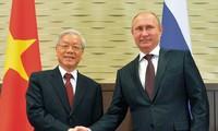 Dalam setiap langkah perkembangan di Vietnam selalu ada selar hubungan persahabatan tradisional dan kerjasama kompreshensif  Vietnam-Rusia