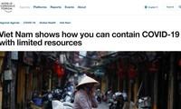 """Website WEF: Vietnam  menjadi """"mercusuar"""" dalam menhadapi wabah Covid-19"""