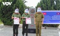 Menerima Biaya Pencegahan dan Penanggulangan Covid-19 yang Diberikan oleh Polisi Provinsi Berbagai Provinsi di Laos Utara