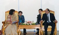 Vize-Premier Nguyen Xuan Phuc empfängt die UN-Koordinatorin für HIV/AIDS
