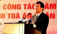 Staatspräsident legt Aufgaben des Gerichtshofs im Jahr 2013 fest