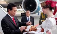 Premier Nguyen Tan Dung führt Gespräch mit dem weißrussischen Ministerpräsidenten