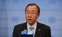 UN-Generalsekretär Ban Ki-moon trifft syrischen Oppositionsführer