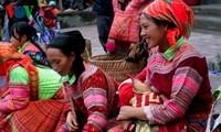 Der Markttag im Hoang Su Phi