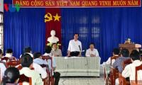 Premierminister Nguyen Tan Dung überprüft Dürrebekämpfung in der Provinz Ninh Thuan