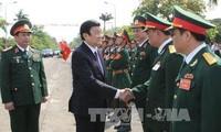 Staatspräsident Truong Tan Sang nimmt an der Feier zum 70. Gründungstag der Heeresakademie 1 teil
