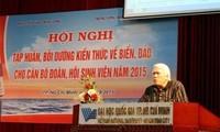 Versorgung der Beamten der Jugendverbände in Südvietnam mit Kenntnissen über Meer und Inseln