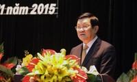 Staatspräsident Truong Tan Sang nimmt an der Konferenz des Wissenschafts- und Geschichtsverbands tei