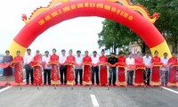 Vize-Premierminister Vuong Dinh Hue nimmt an Einweihung vieler Einrichtungen in Nghe An teil