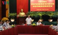 Vorsitzender der Vaterländischen Front Vietnams führt Arbeitstreffen mit Bauernverband