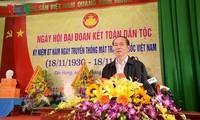 Staatspräsident Tran Dai Quang nimmt am Festtag der nationalen Solidarität in Bac Giang teil