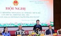 Parlamentschefin nimmt an der Konferenz der Volksräte der nordzentralvietnamesischen Provinzen teil