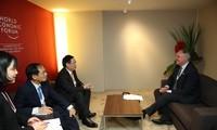 WEF 2018: Vietnam betont die gesunde Entwicklung des Dienstleistung-, und Gesundheitsmarktes