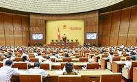 Diskussion in der Parlamentssitzung: offen und enthusiastisch