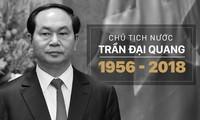 Sondermitteilung über den Tod des vietnamesischen Staatspräsidenten Tran Dai Quang