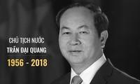 Internationale Medien trauern über den Tod des Staatspräsidenten Tran Dai Quang