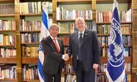 Vietnams Botschafter in Israel führt Abschiedstreffen mit dem israelischen Präsident Reuven Rivlin