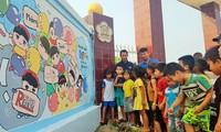 Botschaft aus Wandmalereien über Bomben und Blindgänger