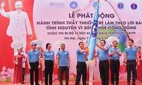 """Start der Kampagne """"Junge Mediziner arbeiten gemäß Aussage Ho Chi Minhs"""""""