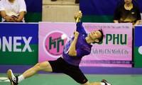 Nguyen Tien Minh steht im Finale eines Badminton-Turniers in Nigeria