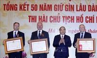 Premierminister Nguyen Xuan Phuc nimmt an der Konferenz über Erhaltung des Leichnams des Präsidenten Ho Chi Minh teil