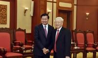Verstärkung der Beziehungen, der besonderen Solidarität und der umfassenden Zusammenarbeit zwischen Vietnam und Laos