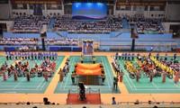 Eröffnung des Tischtennis-, Badminton-, Gewichtheben-, Schach- und Bocciaturniers der Behinderten