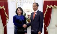 Vize-Staatspräsidentin Dang Thi Ngoc Thinh nimmt an der Vereidigungszeremonie des indonesischen Präsidenten teil