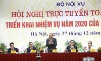 Vize-Premierminister Truong Hoa Binh nimmt an der Online-Konferenz zu Aufgaben im Jahr 2020 des Innenministeriums teil