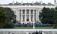 US-Präsident Donald Trump hält erstmals eine Rede vor Anhängern seit seiner Covid-19-Erkrankung