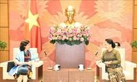 Parlamentspräsidentin Nguyen Thi Kim Ngan empfängt die kubanische Botschafterin