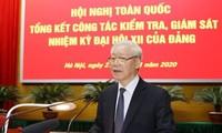 KPV-Genralsekretär, Staatspräsident Nguyen Phu Trong nimmt an der Bilanzkonferenz der Partei teil