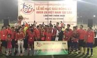 """Abschluss des Fußballturniers """"Over 29 Vietnam"""" in Laos"""