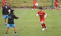 Vorbereitung für WM-2022: Vietnamesische Fußballspieler trainieren