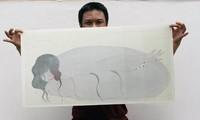 Buchpräsentation und Ausstellung der Seidenbilder von Bui Tien Tuan