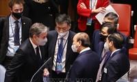 Staatspräsident trifft Leiter der an der UN-Generalversammlung beteiligten Delegationen