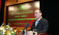 Staatspräsident Nguyen Xuan Phuc nimmt an der Feier zum 60. Gründungstag der Aufklärungskräfte teil