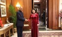 당 티 응옥 틴 국가부주석, 람 나트 코빈드 인도 대통령과 회견