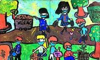'다채로운 축제' 그림 그리기 대회: 코로나19 방역에 대한 어린이 감흥 조성