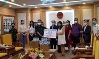 기업들, 코로나19 전염병을 예방하기 위해 국경경비대에 의료용품 기증