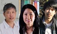 2020년 따 꽝 브우 상, 의약학, 수학, 물리학 분야 과학자 세 명 수상