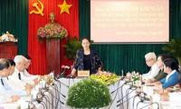 응우옌 티 낌 응언 국회의장, 빈프억성 지도자와 회의
